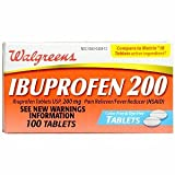 Walgreens Ibuprofen 200 mg Tablets Color Free and Dye Free, 100 ea