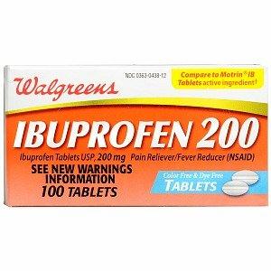 Walgreens Ibuprofen 200 mg Tablets Color Free and Dye Free, 100 -