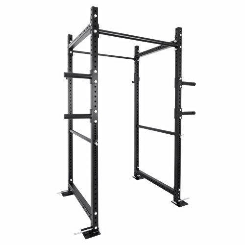 """Popsport Deep Squat Rack Series Power Rack Squat Barbell Cage Bench Stand Heavy Duty Multi-Grip Chin-Up Fitness Power Rock with Lat Pull Attachment for Home Gym (36"""" T-3)"""