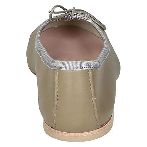 6087taupe Donna Ballerine Leonardo Pelle Shoes Beige Sx1zHAwn