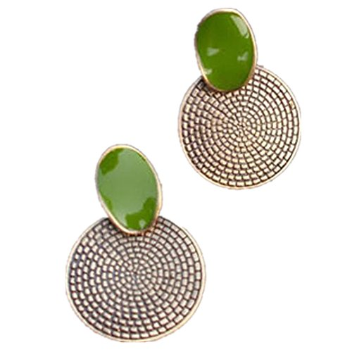 banggood-retro-big-drip-green-round-annual-ring-earrings-stud-carved-jewellery