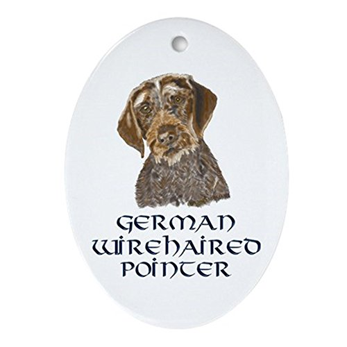 German Wirehair Pointer (CafePress - German Wirehaired Pointer Oval Ornament - Oval Holiday Christmas)