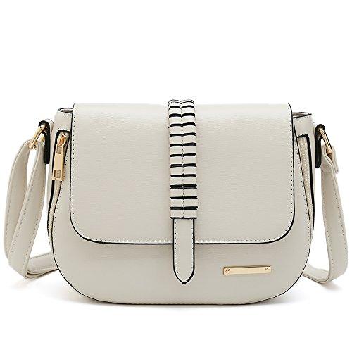 Small Crossbody Purses for Women Designer Saddle Bags Ladies Shoulder Handbags (Type 2 White)