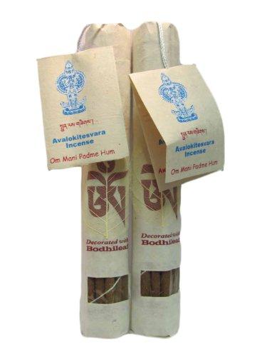 - Traditional Tibetan Ayurveda Chakra Aroma Therapy AVALOKITESHVARA Healing Incense (Om Mani Padme Hum) Pack of 2