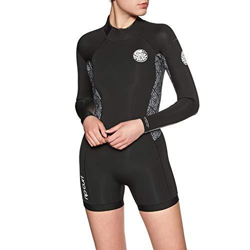 Rip Curl Womens Dawn Patrol 2mm Long Sleeve Shorty Wetsuit Black WSP8GW Womens Size - -