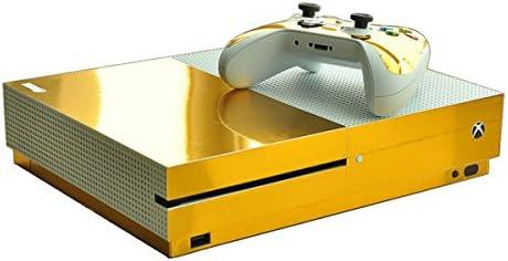 Morbuy Xbox One S Skin Vinly Pegatinas Protective Consola Sticker Decal + 2 Controlador Skins Set (Gold Glossy): Amazon.es: Electrónica