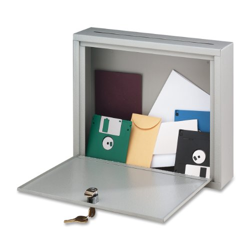 Buddy Products Inter-Office Mailbox, Steel, Large, 7 x 18 x 18 Inches, Platinum (5626-32) (Products Letter Buddy)