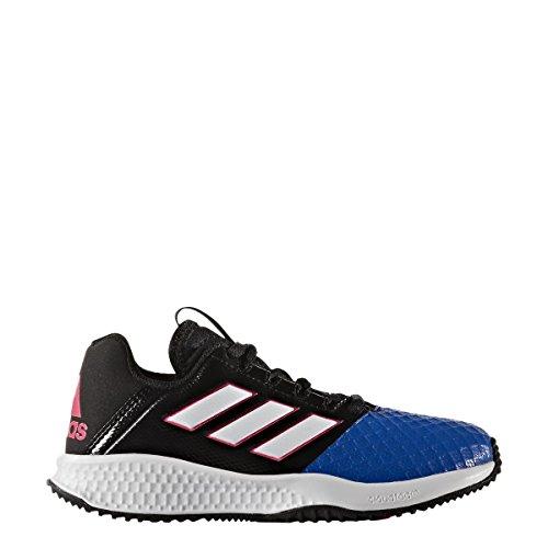 adidas RapidaTurf ACE K - Zapatillas de fútbolpara niños, Negro - (NEGBAS/FTWBLA/AZUL), 32