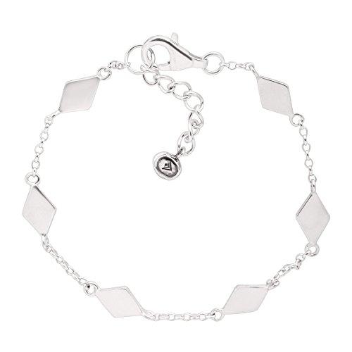 Silpada Dainty Geo Sterling Silver Bracelet  7 1
