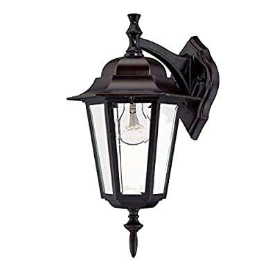 Acclaim 6112ABZ Camelot Collection 1-Light Wall Mount Outdoor Light Fixture, Architectural Bronze