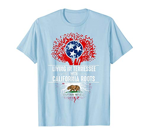 - Tennessee Home California Roots State Tree Flag Shirt Gift