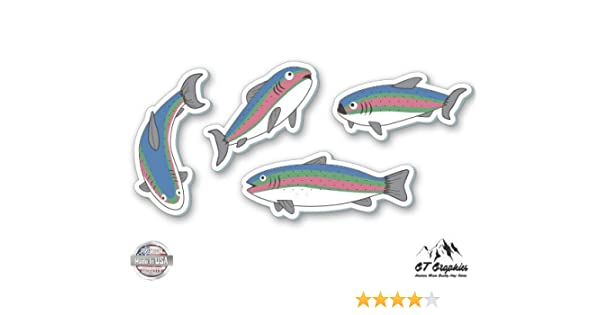 """FISH  Sticker  decal  5/"""" x 3.5/"""" Fishing lure  Decal Many colors FREE US SHIP"""