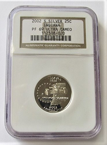 2002 S Indiana Silver State Quarter PF69 NGC