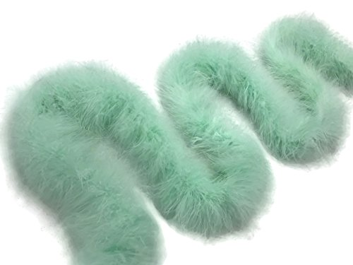 Moonlight Feather   2 Yards - Fresh Mint Turkey Medium Weight Marabou Feather Boa, 25 grams for Halloween, Costume, Party and -