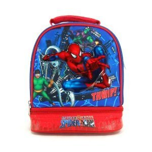 Spiderman Double Compartment Lunch Box Spider-man lunch bag