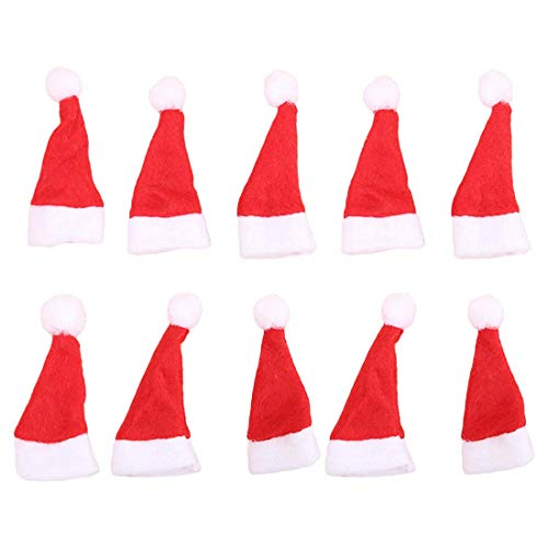 (10pcs Mini Santa Claus Hat Christmas Xmas Holiday Lollipop Topper Cover Festival Decor Wholesale)