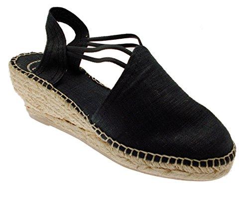 Toni Pons Turia Espadrilles Sandale Noire Femme Corde WKzlTYF7