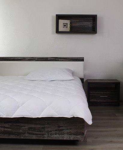 AGIA TEX 2tlg Set Steppbett Stepp-Decke 135x200 cm mit Kopfkissen 80x80cm Allergiker geeignet Winter / Sommer