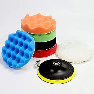 Benavvy 38pcs Polishing Pad Kit, 2 in 1 Car Foam Drill,7-5