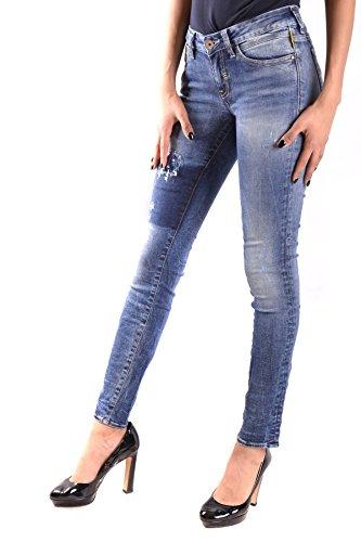 Meltin'pot Damen MCBI340032O Blau Baumwolle Jeans