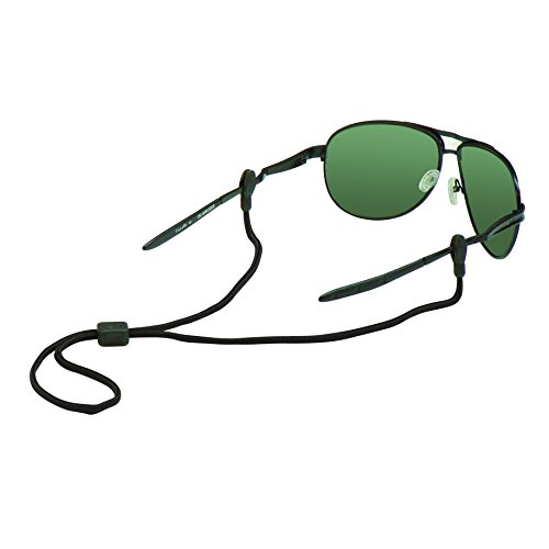 (Chums Slip Fit 3mm Rope Eyewear Retainer, Black)