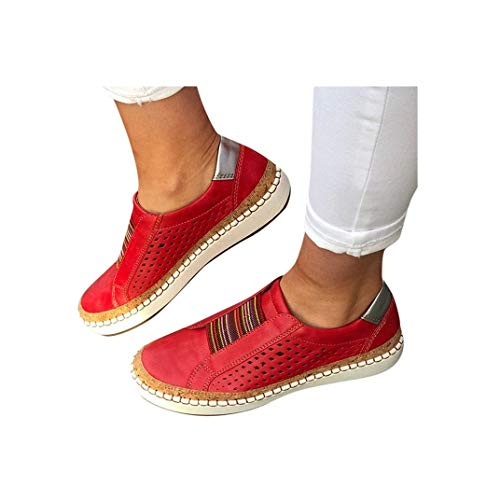9839267777e80 Women's Casual Shoes Slip On Outdoor Sneakers Fashion Comfy Flat Shoes  Hollow-Out Round Toe Board Shoes