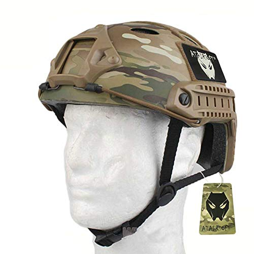 ATAIRSOFT PJ Type Tactical Paintball Airsoft Fast Helmet Multicam (Best Helmet Cam For Paintball)