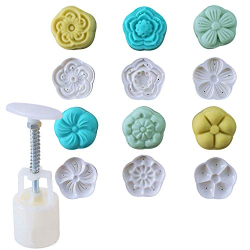 Cookie Press Cake Stamp Bath Bombs Mold Cake Mold with 6 Stamps -Cake DIY Decoration (Style Two) ()