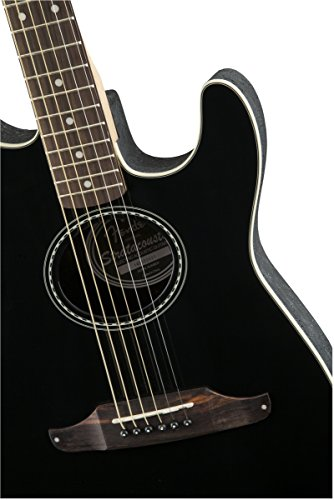 fender standard stratocoustic acoustic electric guitar rosewood fingerboard black buy. Black Bedroom Furniture Sets. Home Design Ideas