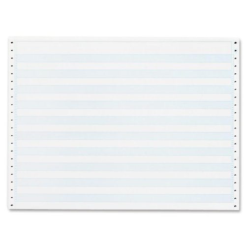 Sparco Computer Paper, 1/2-Inch Blue Bar, 20 lbs., 14-7/8 x 11 Inches, 2400 Count (SPR02180) S.P. Richards Company
