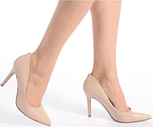 Chaussures Nude Patent Talons Blix8 Cuir Guess Court Hi Femmes vRwng