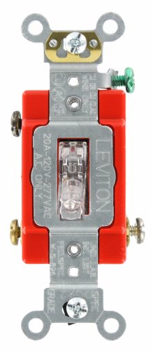 Leviton Illuminated Single Pole Switch - 4