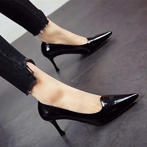 moda boca altos tacones La el FLYRCX y trabajo zapata de superficial consuelo señaló otoño de de moda zapatos primavera parte a los de con señoras fino un cuero wPqvq