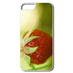 IPhone 5 5S Cases, Strawberry Covers For IPhone 5 - White Hard Plastic