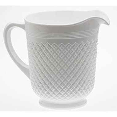 Pitcher - Addison Pattern - Mosser Glass - American Made (Milk)