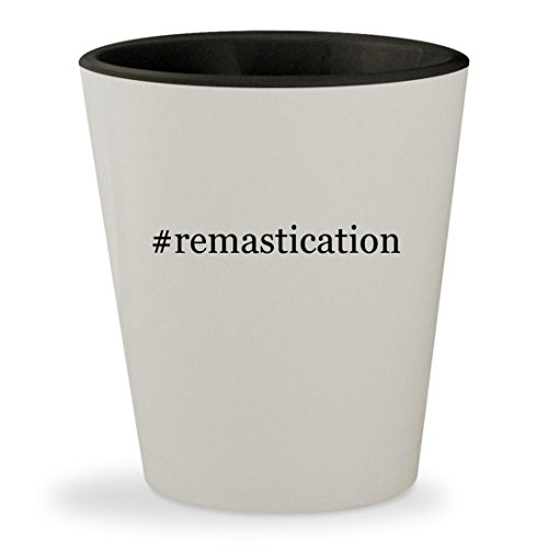 Price comparison product image #remastication - Hashtag White Outer & Black Inner Ceramic 1.5oz Shot Glass