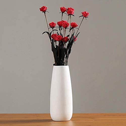 Moonvvin Jarrones de cerámica Altos Decorativos floreros Estilo ...