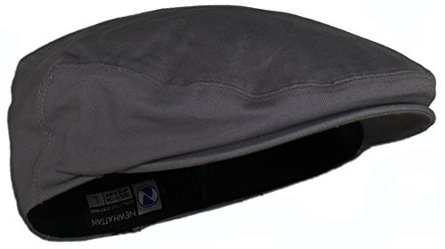 (Ted and Jack - Street Easy Traditional Solid Cotton Newsboy Cap (Large, Charcoal Grey))