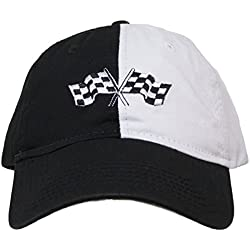 H3 Sportgear GM Corvette Crossed Flags Adjustable Strapback Hat