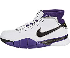 Kobe Bryant's first signature sneaker with Nike, the Nike Kobe 1, delivers support and cushioning in a lightweight package. They were originally constructed with a full-grain leather, feature a padded collar, internal sleeve, carbon fiber spr...