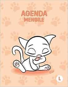 Agenda mensile - L: Colore Pesca - Gatti - Perpetua (Senza ...