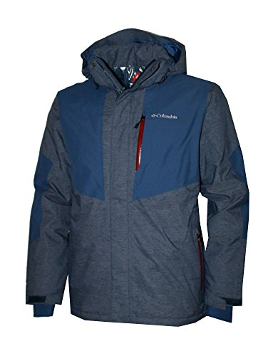 COLUMBIA Men's MOTTOLINO Ski Waterproof Omni Heat Jacket (XXL, Navy)