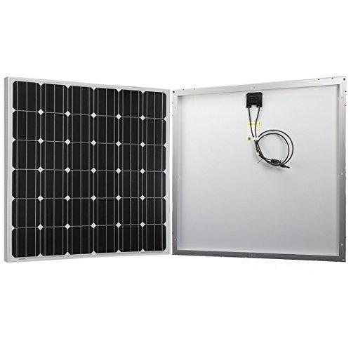 Powereco 150W Solar Panel, Monocrystalline for RV, Boat 12V Battery Charging