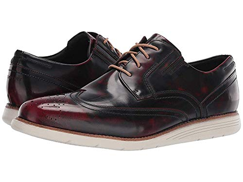 (Rockport Men's Total Motion Sports Dress Wing Tip Black Cherry Leather 11.5 W US)