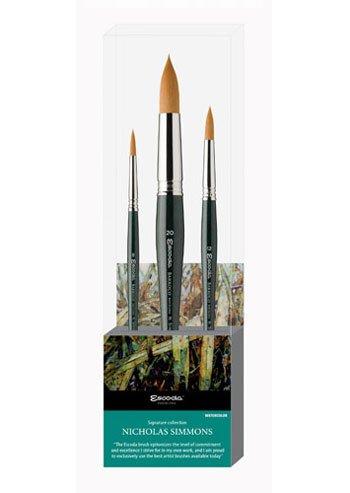 Global Art Materials Escoda Nicholas Simmons Watercolor Brush Set No.1 by Global Art Materials