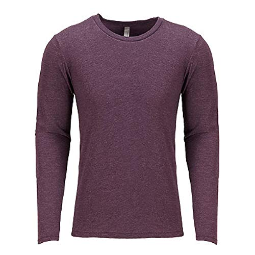 Next Level Apparel Men's Crew Neck Rib Knit Jersey, L, VINTAGE PURPLE