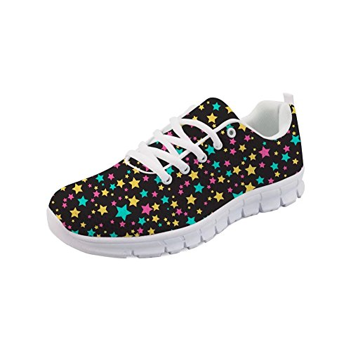 Showudesigns Casual Sneakers Women Sport Shoes Running Walking Star Pattern Color 1 kLIGj
