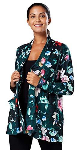 Veste Clark Menue Femme 552z Motifs Des Avec Manteau Longues Manches Chelsea Fleurs Vert dSIqXwnq