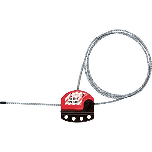 """Master Lock, LLC S806 Cable Lockout, 6 Foot, 5/32"""" Diameter, Black/Red from Outdoor Sport"""