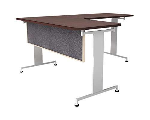 Obex 18X60A-L-GR-MP 18'' Acoustical Desk and Table Mounted Modesty Panel, Graphite, 18'' x 60''